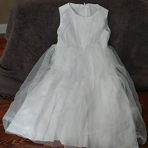David's Bridal Tulle Flower Girl's Dress